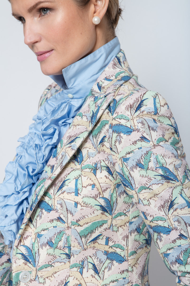 Gracie Jacket in Palm Print
