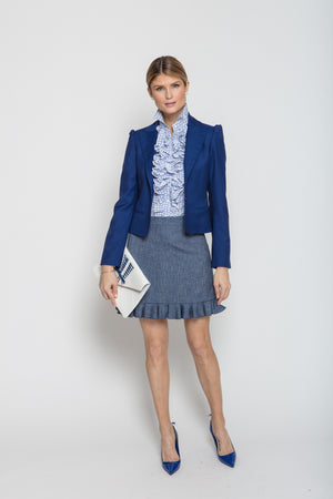 Ali Skirt in Blue Chambray