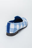 Slipper Baby Blue and White Check