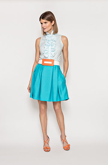 Eleanor  Skirt in Turquoise