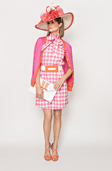Kate Dress in Pink & White Check