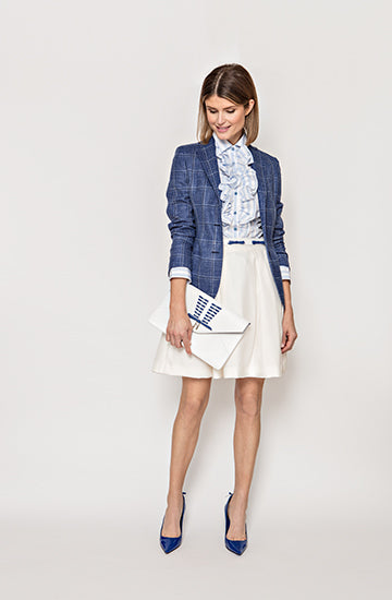 Attolini City Jacket in Blue Plaid