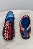Slipper in Navy Print
