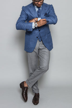 James Sport Coat in Blue Cashmere