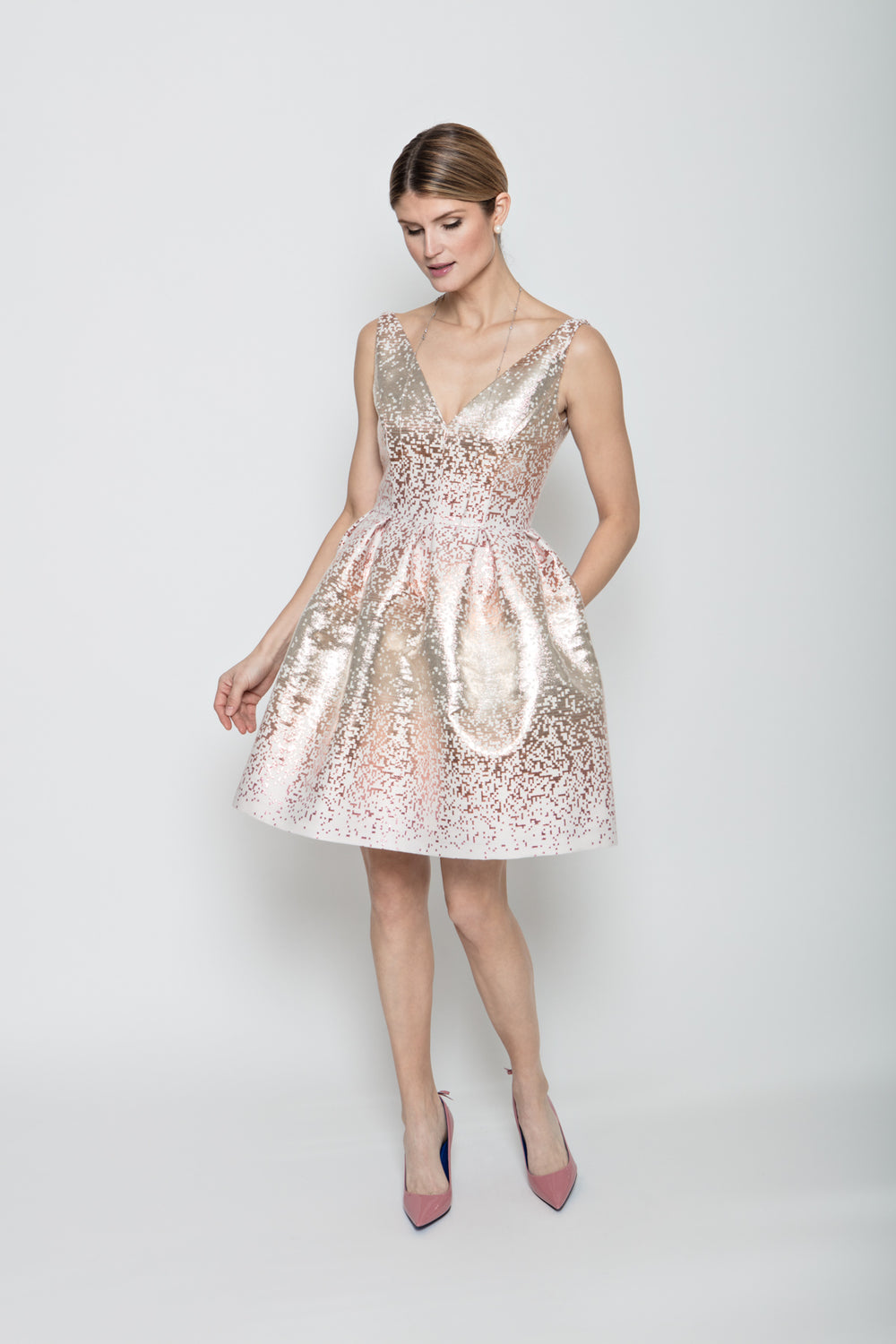 Ava Sparkle Dress in Pink