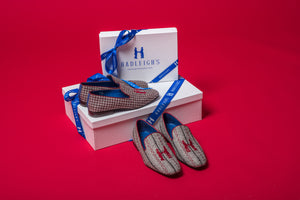 Slipper in Herringbone