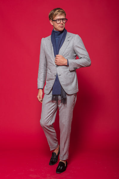 Cashmere Suit in Dove Grey