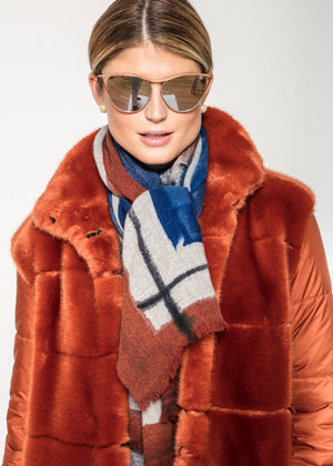 Fur Overcoat in Rust