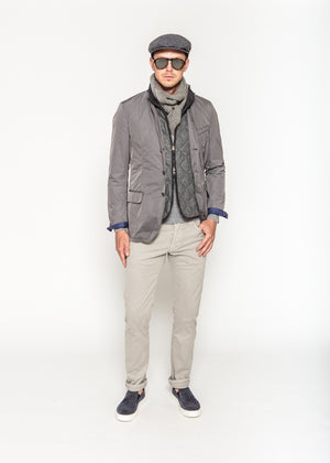Theo Quilted Vest in Grey