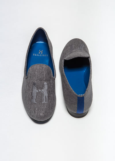 Slipper in Charcoal Sparkle