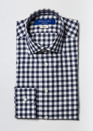 Long Sleeve Shirt in Blue Gingham