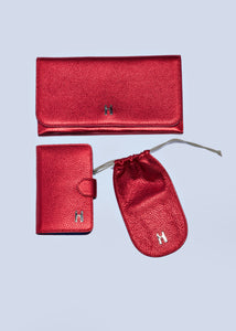 Vic Eye Glass Case in Metallic Red