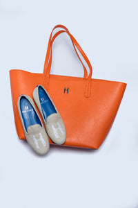 Gable Tote in Orange