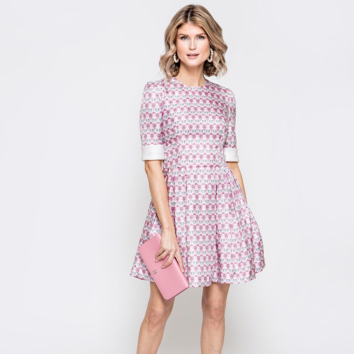 Molly Dress in Pink Sea Bird