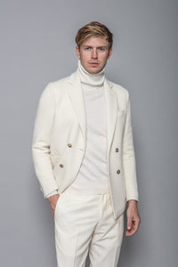 Wool and Cashmere Jacket in Ivory