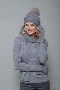 Felicity Sweater in Grey Bows