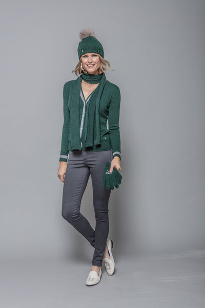 Cashmere Scarf in Green