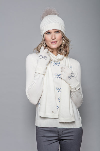 Felicity Sweater in Ivory Bows