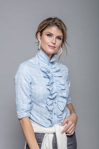 Cashmere Belinda Blouse in Light Blue