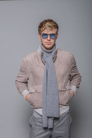 Cashmere Scarf in Grey