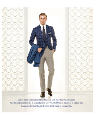 Attolini Blue Check Sport Jacket
