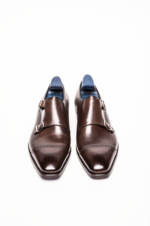 Gaziano & Girling Mayfair Double Monk Cap Toe in Oak