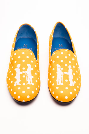 Slipper in Orange and White Polka Dot