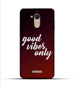 """Good Vibes Only"" Printed Matt Finish Mobile Case for Coolpad Note 5"
