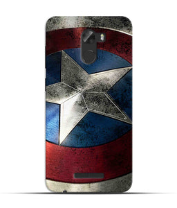 """Captain America"" Printed Matt Finish Mobile Case forgionee A1 Lite"