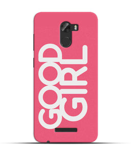 """Good Girl"" Printed Matt Finish Mobile Case forgionee A1 Lite"