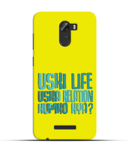 """Uski Life Uska Relation Humko Kya?"" Printed Matt Finish Mobile Case forgionee A1 Lite"