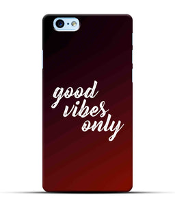 """Good Vibes Only"" Printed Matt Finish Mobile Case for Iphone 6 Plus"