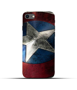"""Captain America"" Printed Matt Finish Mobile Case for Iphone 7"