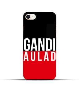 """gandi Aulaad"" Printed Matt Finish Mobile Case for Iphone 8"