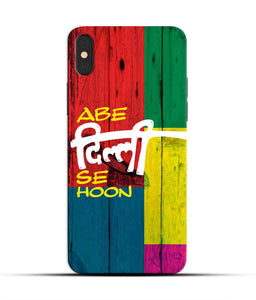 """Abe Delhi See Hoon"" Printed Matt Finish Mobile Case for Iphone X"