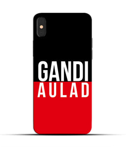 """gandi Aulaad"" Printed Matt Finish Mobile Case for Iphone X"