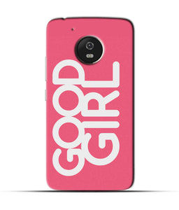 """Good Girl"" Printed Matt Finish Mobile Case for Moto G5"