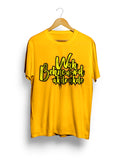 """Wah BC Yellow"" Printed Pure Cotton Half Sleeve t-shirt (Color options Available)"