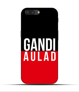 """gandi Aulaad"" Printed Matt Finish Mobile Case for One Plus Five"
