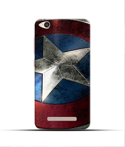 """Captain America"" Printed Matt Finish Mobile Case for Redmi 4A"