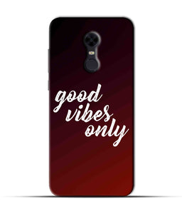 """Good Vibes Only"" Printed Matt Finish Mobile Case for Redmi Note 5"
