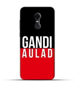 """gandi Aulaad"" Printed Matt Finish Mobile Case for Redmi Note 5"