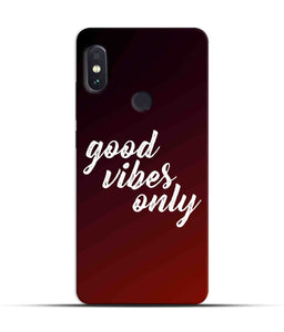 """Good Vibes Only"" Printed Matt Finish Mobile Case for Redmi Note 5 Pro"