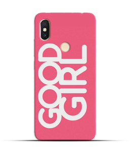 """Good Girl"" Printed Matt Finish Mobile Case for Redmi Y2"