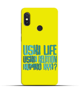 """Uski Life Uska Relation Humko Kya?"" Printed Matt Finish Mobile Case for Redmi Note 5 Pro"