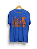 """Uski Life Orange"" Printed Pure Cotton Half Sleeve t-shirt (Color options Available)"
