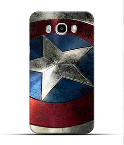 """Captain America"" Printed Matt Finish Mobile Case for Samsung J7 2016"