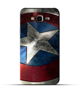 """Captain America"" Printed Matt Finish Mobile Case for Samsung J7 Nxt"