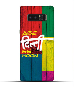 """Abe Delhi See Hoon"" Printed Matt Finish Mobile Case for Samsung Note 8"