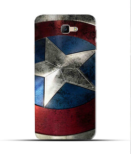 """Captain America"" Printed Matt Finish Mobile Case for Samsung J5 Prime"
